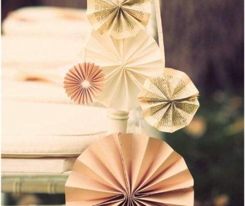 Des rosaces en papier pour votre mariage