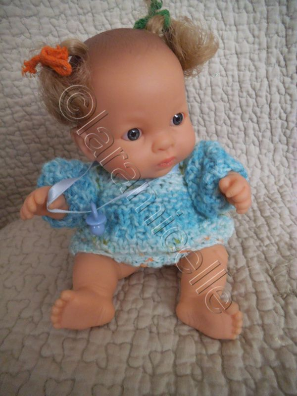 tuto gratuit paola reina: robe douillette pour bébé