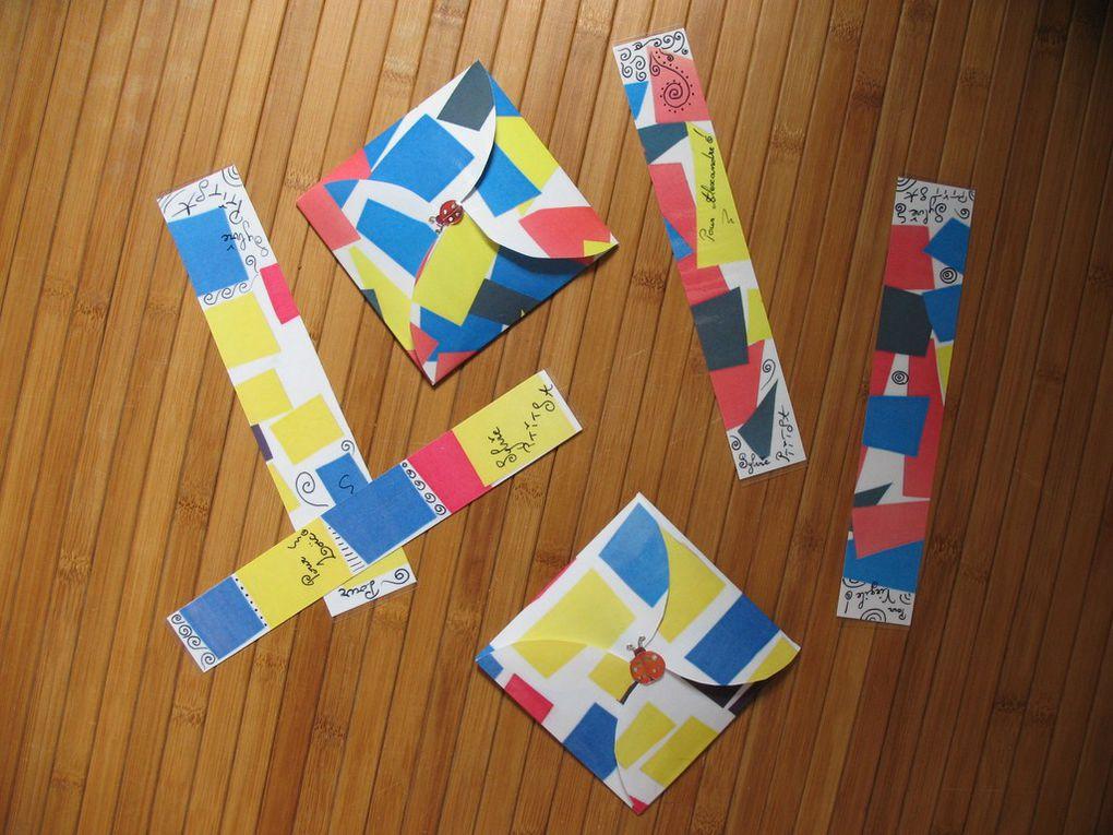 """Jeu et étuis réalisés avec des enfants de 8 ans à partir du livre """"Le coquelicot qui se sentait tout seul"""". Vendu avec ses marque-pages personnalisés. Prototype remplacé par une version moins artisanale du jeu, en vente sur le site."""