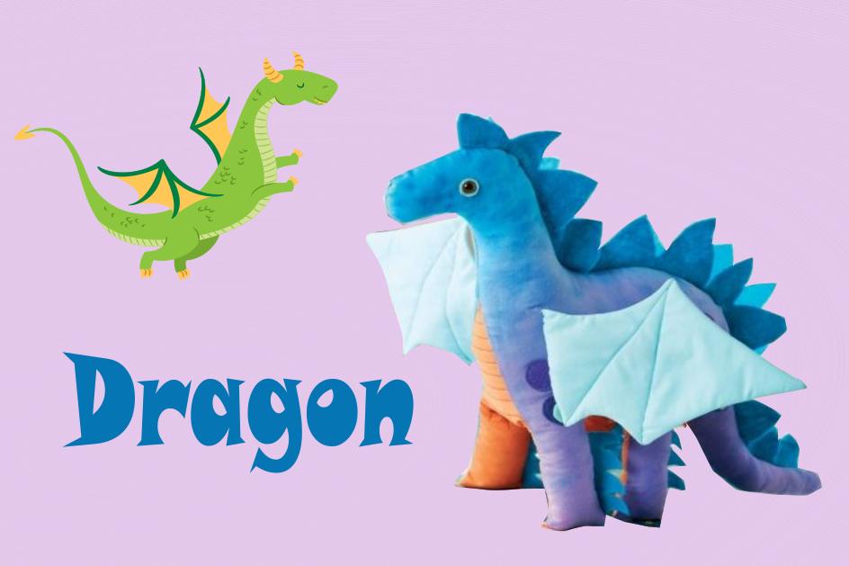 patron gratuit couture doudou dragon