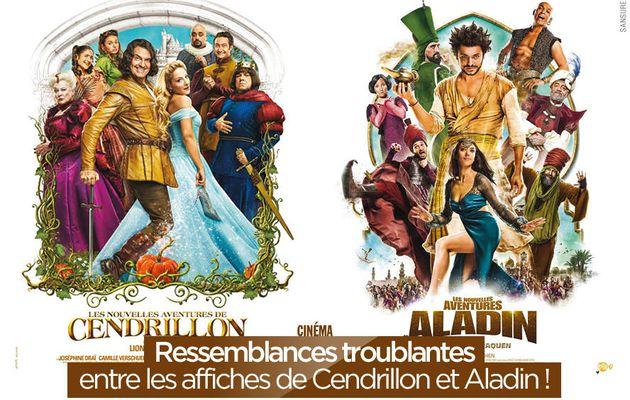 Ressemblances troublantes entre les affiches de Cendrillon et Aladin ! #copie