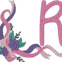 """ABC """"Rubans roses"""", la lettre R"""