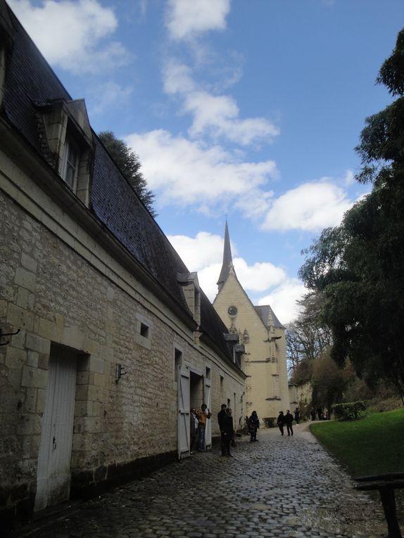 les extérieurs, bâtiments et jardins, les anciennes douves et la sellerie dans les communs.