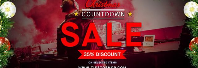 The Christmas Countdown sale ends at Tiestoshop - 35% off on selected items!