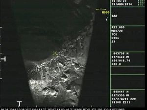 .Bárðarbunga - 08/19/2014 - Crater radar images.- doc. IMO - one click to enlarge.