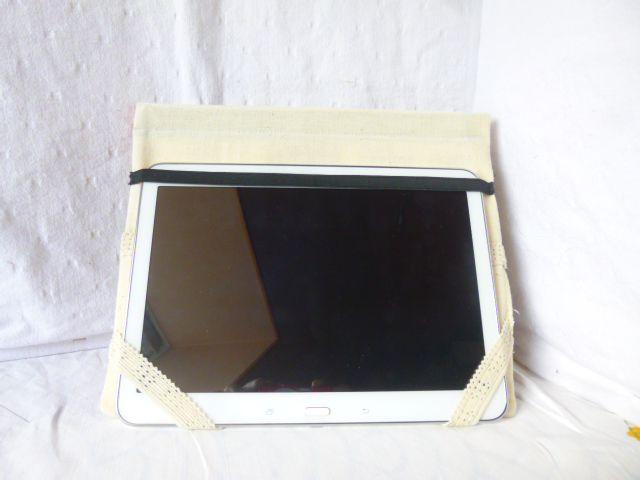 Housse de protection pour tablette - en chutes de tissus