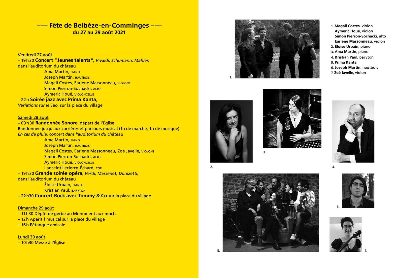 Belbèze en Comminges - la fête continue du 27 au 29 août