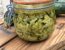 Courgettes sûries au curry - chutney de courgette