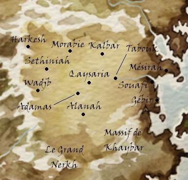 Carte de l'Empire de Keshe