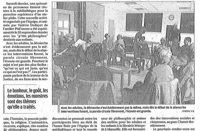 Articles sur Phil'Osons de Yannick Bathrez - La Provence
