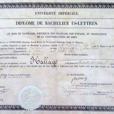17 mars 1808 - Napoléon crée le baccalauréat