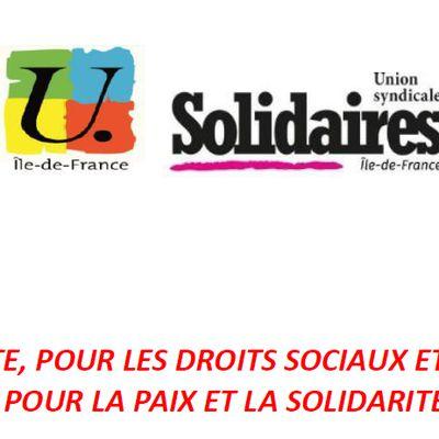 Manifestation unitaire le 1er mai 2021 à 14h de la place de la République à Nation.
