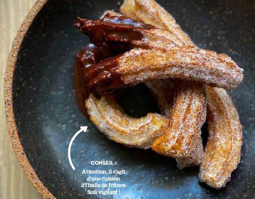 Recette : Churros sauce chocolat By Cyril Lignac