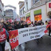 Environ 1.500 manifestants contre la loi Travail à Bourges