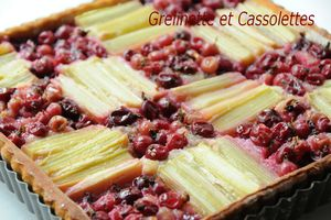Tarte Rhubarbe Fruits Rouges