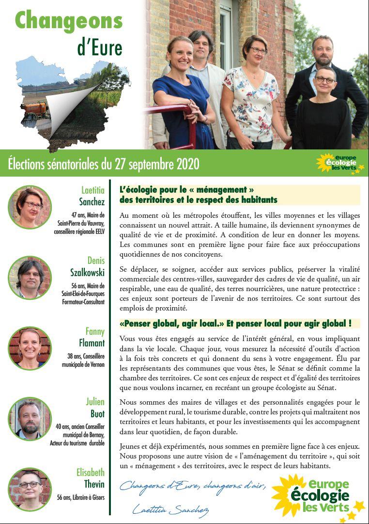 EURE : ÉLECTIONS SÉNATORIALES DU 27 SEPTEMBRE 2020 (1)