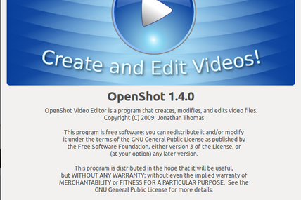 OPENSHOT en version 1.4