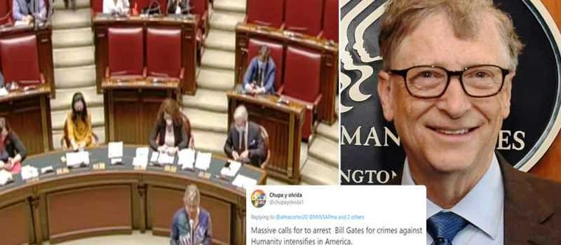 "Diputada  italiana pide que Bill Gates sea acusado por ""crímenes contra la humanidad"" (Video)"