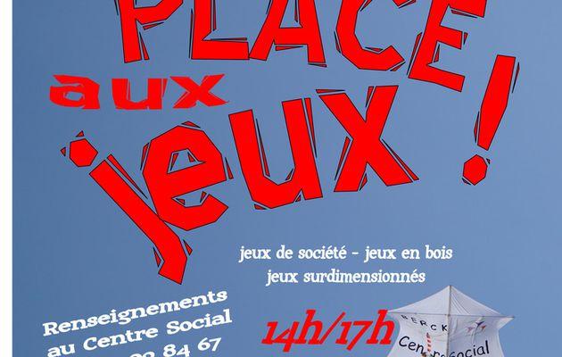 PLACE AUX JEUX...LE MERCREDI 11 JUILLET..à la MEDIATHEQUE et au KURSAAL...