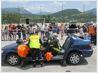Une magnifique démonstration de désincarcération a permis aux visiteurs très impressionnés d'assister à un sauvetage d'une grande technicité par les pompiers de Saint André les Alpes
