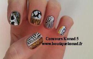 Un petit aperçu du concours Konad 5. du 22 avril au 22 mai 2012. Il y avait 53 participantes. Sur la page de fan Facebook : décoration des ongles avec les produits konad et autres.