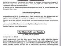 Die Karateabteilung der Turngemeinde Veitshöchheim feierte 20jähriges Bestehen