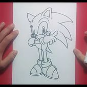 Como dibujar a Sonic paso a paso 2 - Sonic   How to draw Sonic 2 - Sonic