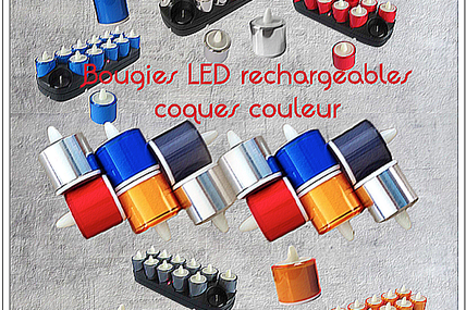 MIDLIGHTSUN-Bougie LED rechargeable