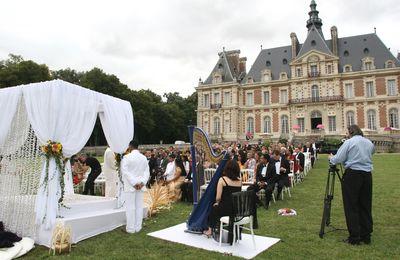 Wedding harpist in Paris