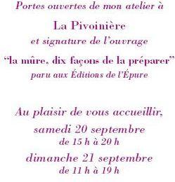 Moulicent (canton de Longny-au-Perche), Céline Sachs-Jeantet : Portes ouvertes d'atelier à La Pivoinière le 21 Septembre (à l'occasion des Journées Européennes du patrimoine).