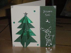 Cartes sapins de Noël