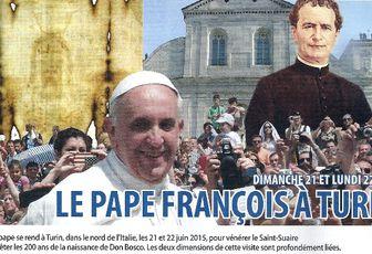 LE PAPE FRANCOIS A TURIN DIMANCHE 21 JUIN