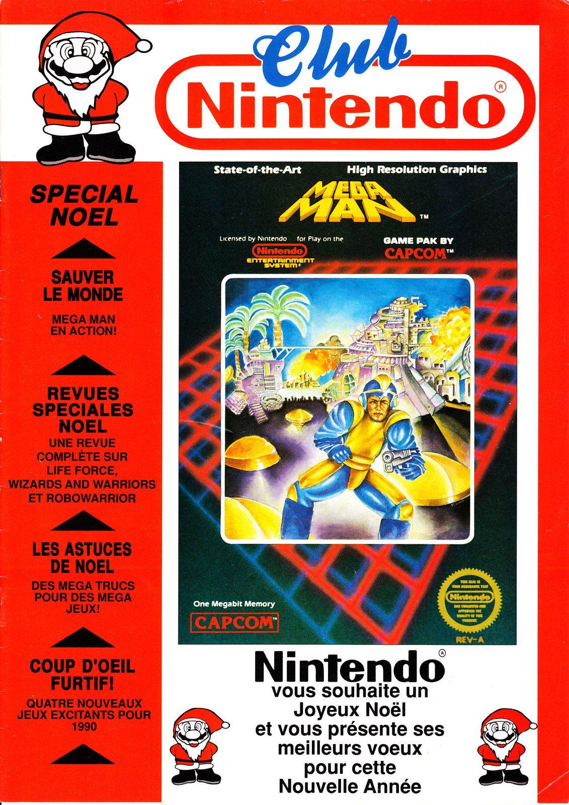 Magazine Club Nintendo numéro 5 de 1989 avec Mega Man en couverture