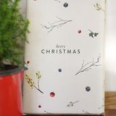 Free Printable Berry Christmas Wrapping Paper | One O DIY