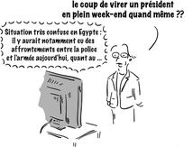 Egypte : situation confuse. Mais que fait MAM ?
