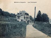 Les Villas - Bellevue, postée en 1957 - Les terrasses - Bois de la Vigne années 60 - Carte de Marguerite du Château de Milon postée en 1913
