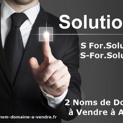 S-FOR.SOLUTIONS : NOM DE DOMAINE A VENDRE A ACHETER AVEC BOURSOWEB ET NAMEDRIVE
