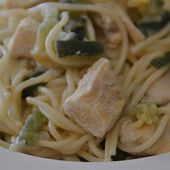 Spaghettis poulet courgettes cookeo |