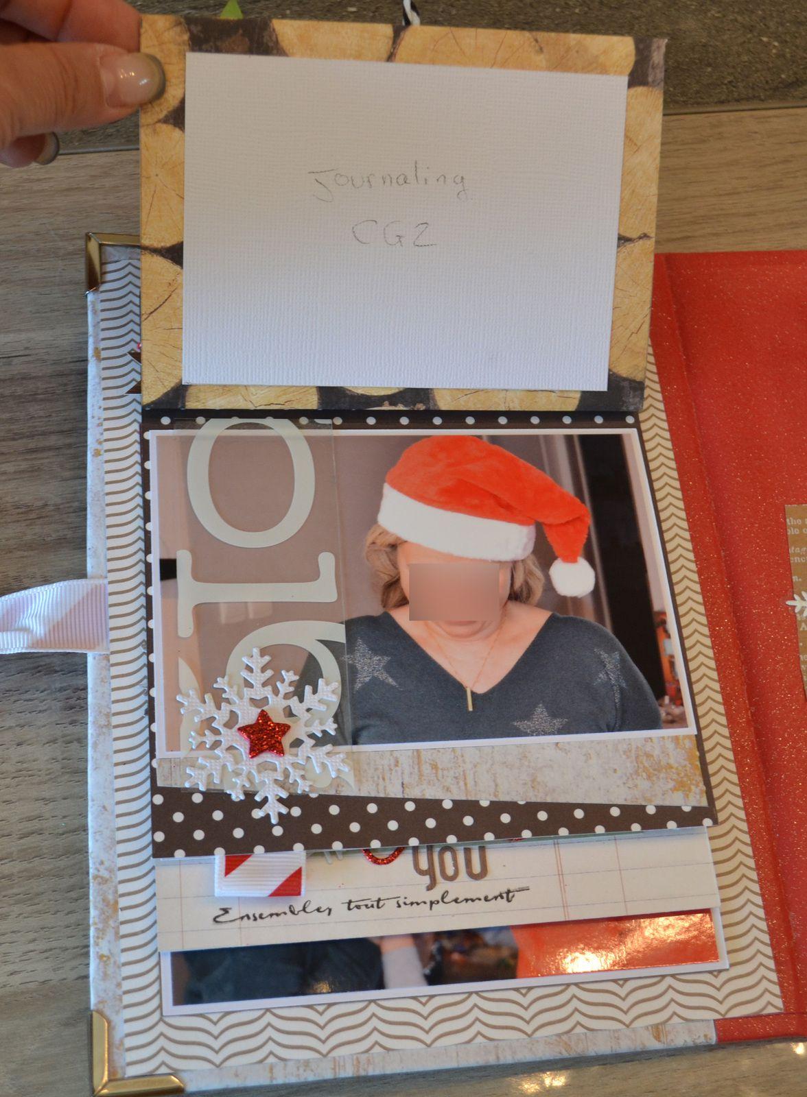 Mini album  home for christmas de  julie Blanc!