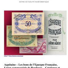 Bons de L'Epargne française Billets de Bordeaux
