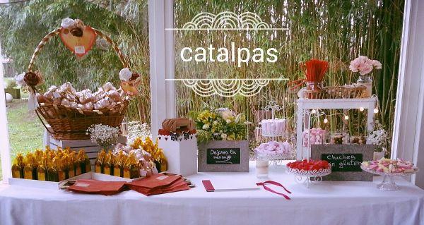 Decoración mesa chuches y varios - Catalpas Centro de Jardinería