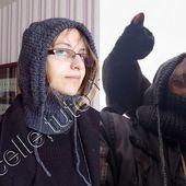tuto gratuit : snood à capuche pour femme - Chez Laramicelle
