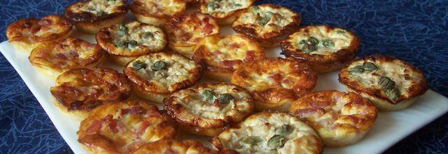 Mini-quiches sans pâte