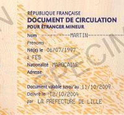 #le document de circulation pour étranger mineur