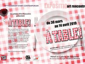 EXPOSITION COURANT D'ART - A TABLE !