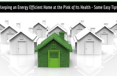 Keeping an Energy Efficient Home at the Pink of Its Health - Some Easy Tips