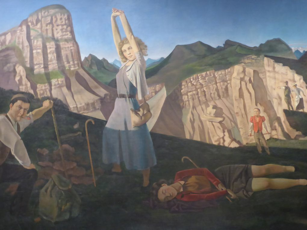 Détails de La Montagne, Balthus, 1936-1937. Huile sur toile, 248,9 x 365,8 cm. Purchase, Gifts of Mr. and Mrs. Nate B. Spingold and Nathan Cummings, Rogers Fund and The Alfred N. Punnett Endowment Fund, by exchange, and Harris Brisbane Dick Fund, 1982 © Le Curieux des arts Gilles Kraemer, Metropolitan Museum of Art, New York, 23 novembre 2015
