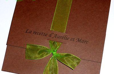 Faire-part chocolat vert anis, ruban, thème gourmandise - recette...