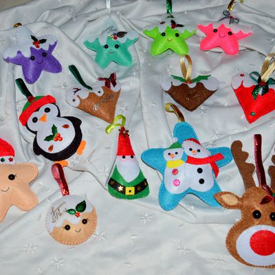 Déco de Noël en feutrine !!