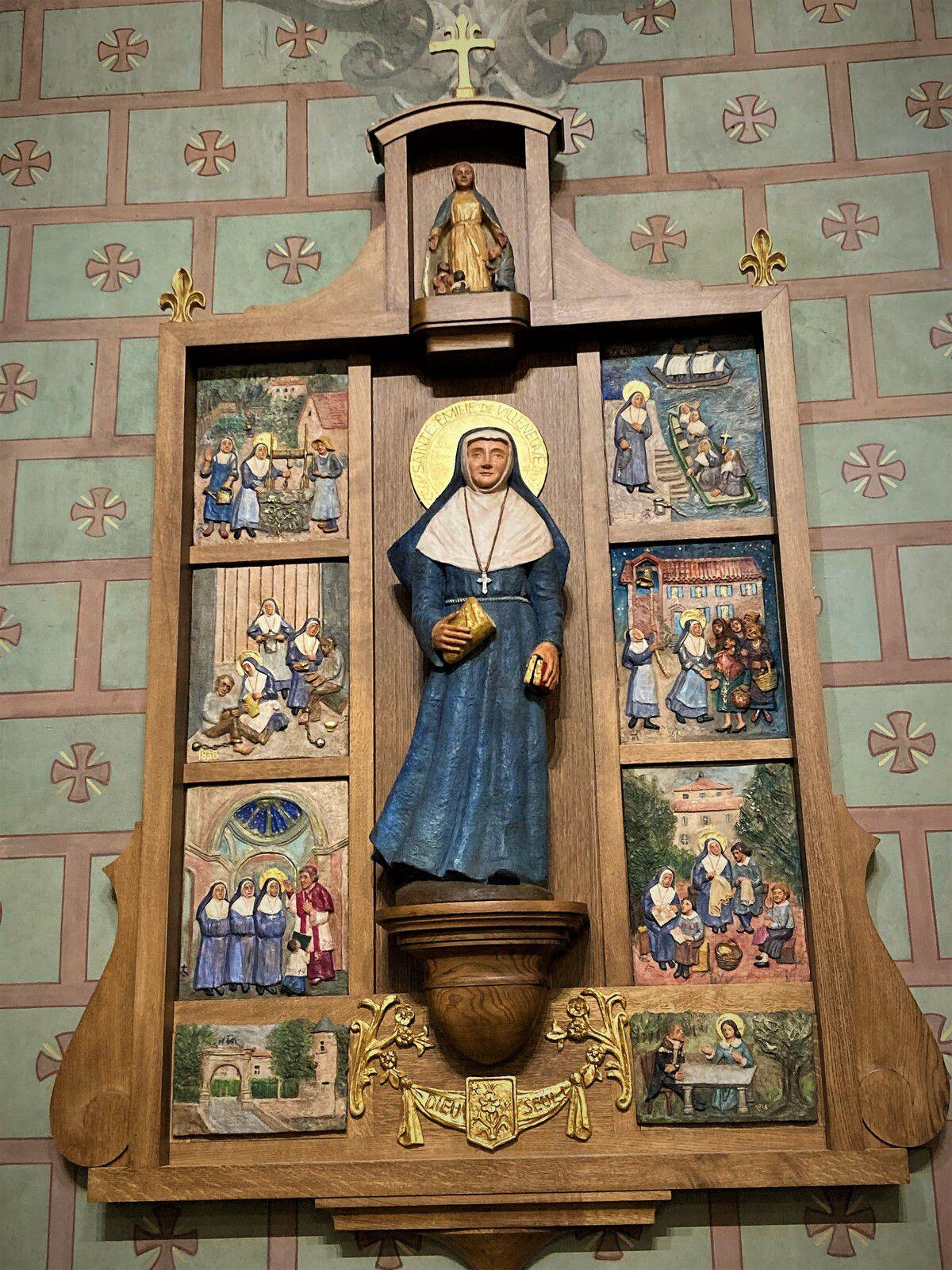 Le retable dédié à Sainte Emilie de Villeneuve